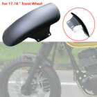 Motorcycle Cafe Racer Front Wheel Fender Splash Mud Dust Guard Mudguard Black