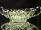 Beautiful Glass Double Handled Bowl