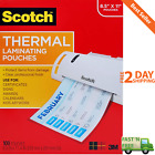 100 Pack Scotch Thermal Laminating Pouches Photo Safe 85 x 11 Sheet Letter