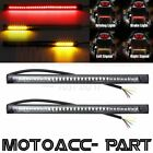 2PCS Motorcycle 48LED Integrated Brake Stop Turn Signal Tail Light Strip Bar USA