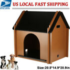 Foldable MDF Dog Cat House Pet Puppy Shelter Waterproof Indoor Outdoor Ventilate