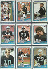 1988 TOPPS COMPLETE 396 FOOTBALL SET WITH BO JACKSON & VINNIE TESTAVERDE RC