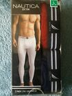NAUTICA Men's 2 Pack 100% Cotton Long Underwear Size:Large Colors:Red/Blue NEW