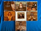 RARE CHER COLLECTION SEVEN SINGLES FREE SHIPPING!! INCLUDES 2 GERMAN RELEASES!