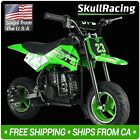 SkullRacing Gas Powered Kids Mini Pocket Dirt Bike Motorcycle Green