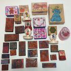 Rubber Stamp Lot Of 33 Stamps Halloween Disney Angels Easter More