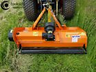 KUBOTA ORANGE FARM MASTER NEW COMPACT TRACTOR HEAVY FLAIL MOWER 15M WIDE