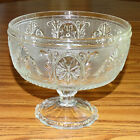Indiana Tiara Sandwich Pattern Clear Glass Large Footed Centerpiece Compote