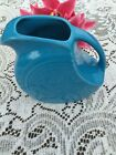 FIESTA NEW PEACOCK bright blue LARGE DISK PITCHER 67-1/4 oz DISC Fiestaware