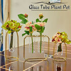 Metal Hanging Glass Flowers Plant Pot Vase Stand Holder Bottle Container New