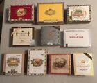 Lot of 10 DECORATIVE PAPER  WOODEN Cigar Boxes NICE VARIETYSEPTEMBER SALE