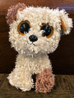 TY Beanie Boos ROOTBEER Brown Tan DOG Unique CURLY SOLID Eyes