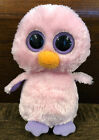 Ty Beanie Boo Posy Duck Chick Pink Purple Big solid Eyes Plush 6