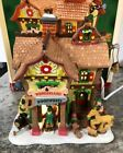 Rare 2007 LEMAX VILLAGE SANTAS WONDERLAND Woodworks Elves Toy Wood Mill Carving