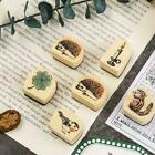 1PC Sweet Pattern Wooden Wood Rubber Stamp Stamper Seal Craft Diary  Sale A2U4