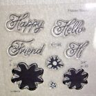 Hi Friend A1198 Close To My Heart flowers words card making scrapbooking