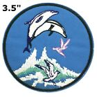 Dolphins Embroidered Patch Iron-On Souvenir Travel Explore National Parks