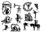 12 DIFFERENT INTRICATE FANCY FAIRIES FAIRY DIE CUT CUTS EMBELLISHMENTS Lot 4