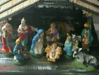12 figurines Nativity manger creche Christmas Jesus Mary hand painted Italy Xmas