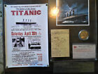 RMS Titanic Plaque. Coin. Flyer. Paperwork. Limited Edition. EXTREMELY RARE.