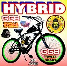 HYBRID 80cc Gas Motor COMPLETE ENGINE WITH A 26 BIKE BICYCLE MOPED SCOOTER KIT