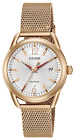Citizen Eco-Drive Ladies LTR FE6083-72A Rose Gold-Tone Steel Watch