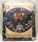 VTG Bucilla Felt Appliqu Tree Skirt Kit Nativity 82720 43 Round NEW SEALED