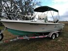 fishing boat 20 foot center console 225 Johnson outboard