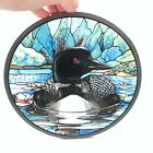 Glassmasters 1987 Stain glass Duck in Pond with Water Lilys 85 in Across