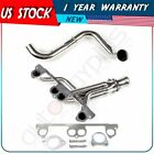 FOR Jeep  Wrangler Sahara 4.0L Stainless Steel Manifold Header w/ Downpipe