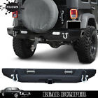 Newest Fit Jeep Wrangler JK Textured Rear Bumper With Hitch Receiver+2pods US