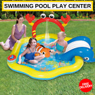 Inflatable Swimming Pool Play Center With Slide To Hot Summer Days Free Shipping