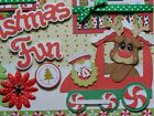 Christmas Fun Train 2 premade scrapbook pages 12x12 paper piecing diecut
