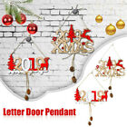 letter card hanging Merry Christmas house plate door decor Wooden pendant