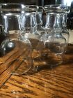 Vintage 9 Federal Libby? Glass Clear Beer Drinking Glasses Mid Century Modern