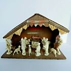 Fontanini Nativity 13Pc Set with Stable Creche Italy Ivory Color Mounted Figures