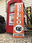 Antique Vintage Old Style Delco Batteries Sign