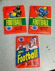 --Lot of 3 -- Topps Football Unopened Wax Packs 1980 & 1982