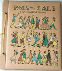 Betty Betz Pals and Gals My Pasteup Book vtg scrapbook embossed 20 pages unused