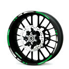 For Kawasaki Z900  #style 1 Stereo Rubber rim pasters Cool wheel stickers #ITA