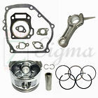 New Piston Ring Pin Kit and Connecting Rod and Gasket Set For Honda GX160 55HP
