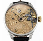 1905 Omega pocket watch movement was custom watch spiral full engraved