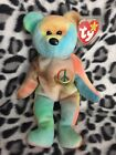 *RARE 1ST EDITION*Peace Ty Beanie Baby W/ERRORS! ORIGiiNAL & SURFACE WASH STAMP!