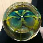 Glass Eye Studio Flower Environmental Paperweight from 2002 Made in the USA