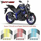 For YAMAHA MT-03 #style 3 Stripes Sticker Fashion wheel protector