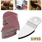 51 Finger Sanding Sheets Paper Sand Disc Kit for Oscillating Multi Tool Saw USA