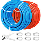 1 2 600 2 Coils 300 Red  300 Blue Certified Non Barrier PEX Tubing Htg Plbg