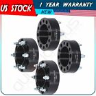 2 thick 6x55 to 6x55 12x15 studs 4Pcs Wheel Spacers For Toyota Chevrolet GMC