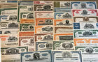 Mixed Lot of 100 Different Stock Certificates and Bonds Various Industries