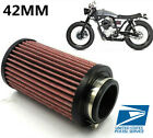 1Pcs 100% New 42MM Motorcycle Air Filter Pod Red Color Universal USA SHIPPING